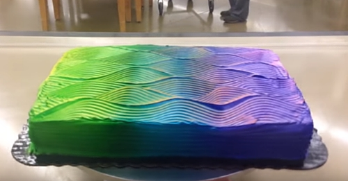 It Looks Like A Normal Cake, But Wait Until It Starts Spinning…