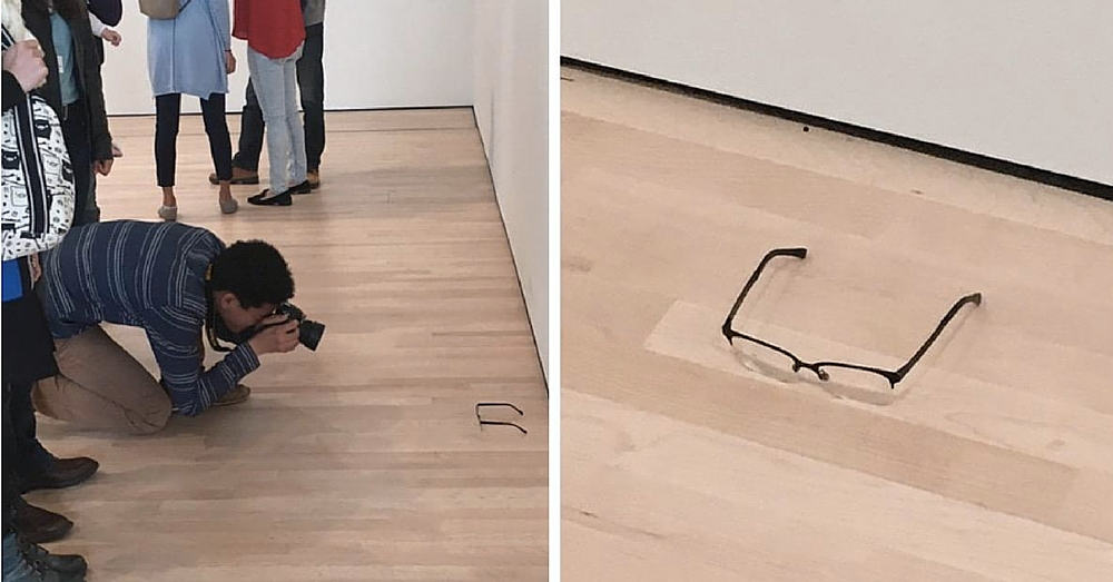 Pair Of Glasses Left On Floor At Museum…And Everyone Thinks It's Art