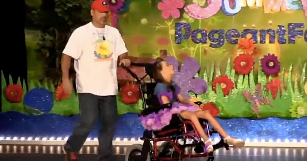 Dad Walks On Stage With Special Needs Daughter. What Happens Next Left Me In Tears