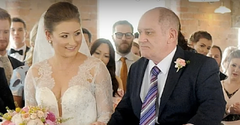 Paralyzed Cancer Patient Can't Walk Daughter Down Aisle. But Watch What They Do Next…