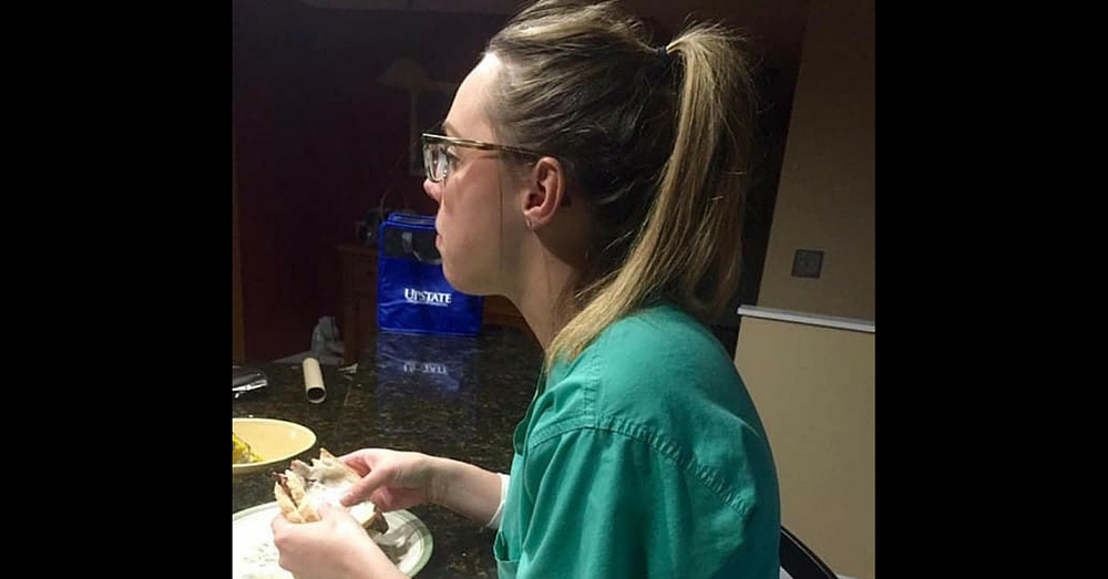 Wife comes home after 14-hour shift and eats dinner alone – then husband makes viral Facebook post