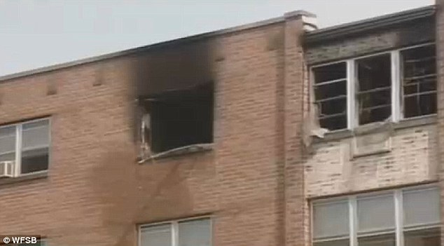 On that fateful day on June 25, 1998, Getz said he had called out to a fire in the Aponte's apartment on Washington Street (pictured)
