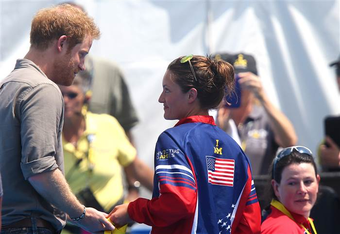 Marks, asking Prince Harry to give her medal to the British hospital that saved her life. Getty