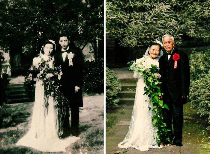 Cao Yuehua and Deyi got married in 1945