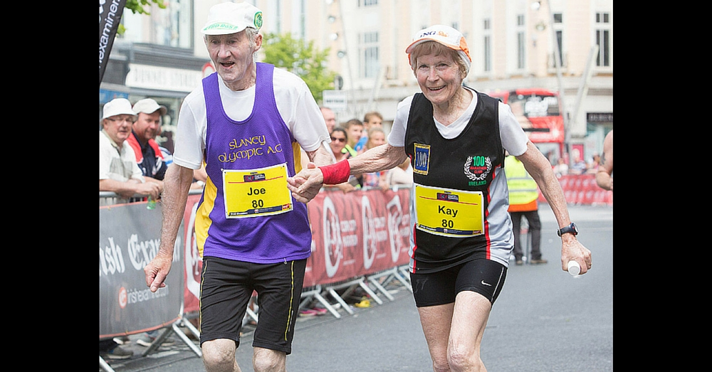 80-Yr-Old Couple Celebrates Last Marathon Together In Most Adorable Way