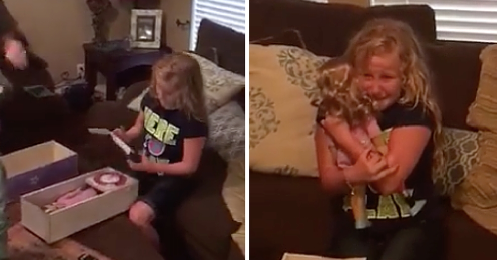 Little Girl Gets Brand New Doll, But When She Looks At Its Leg She Breaks Down In Tears