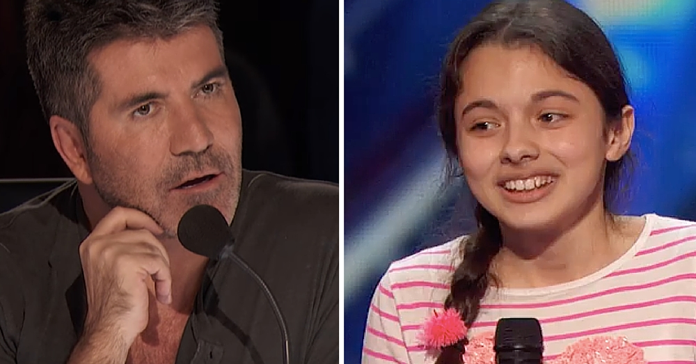 13-Yr-Old Nervous As She Takes Stage. By End Simon Was THANKING Her For Coming On Show