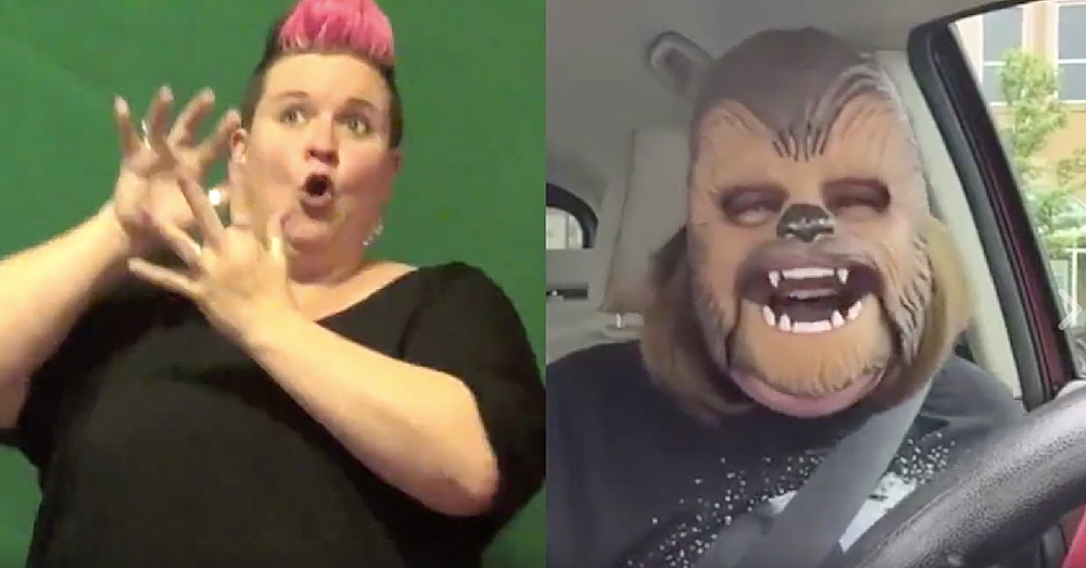 This Woman Just Signed The Entire Chewbacca Mom Video And I Can't Stop Laughing