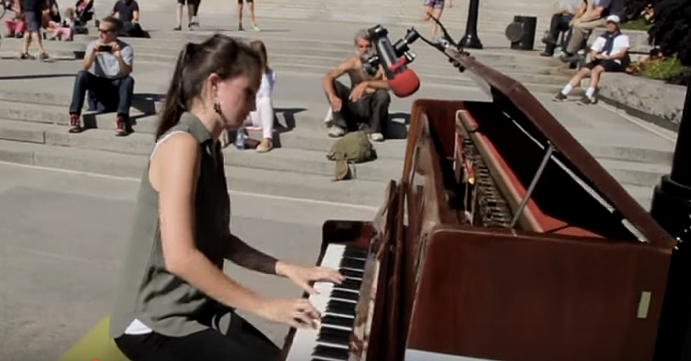 Woman Sits Down At Abandoned Piano. What She Does Next Leaves Their Jaws On The Floor