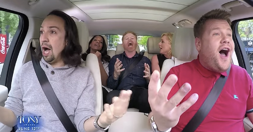 'Carpool Karaoke' Goes Broadway, And It's Better Than We Ever Could Have Hoped