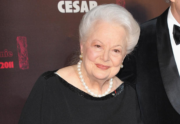Olivia de Havilland arrives at the 36th Cesar Film Awards at Theatre du Chatelet on February 25, 2011 in Paris. FRANCOIS DURAND/GETTY IMAGES