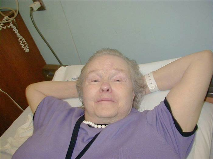 Serina Vine at the hospital before passing. Courtesy of the Department of Veterans Affairs