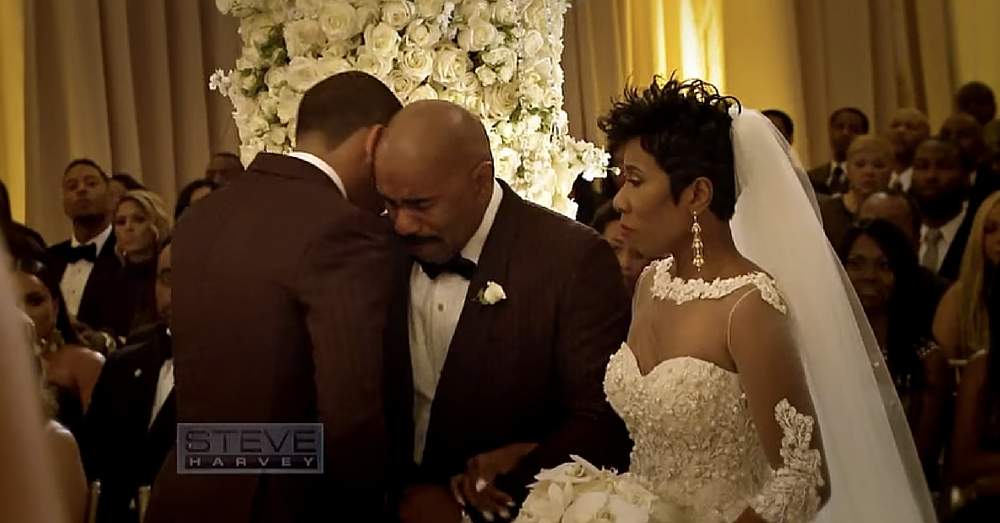 Steve Harvey Walks Daughter Down Aisle. What He Does When He Sees Son-In-Law…I Lost It