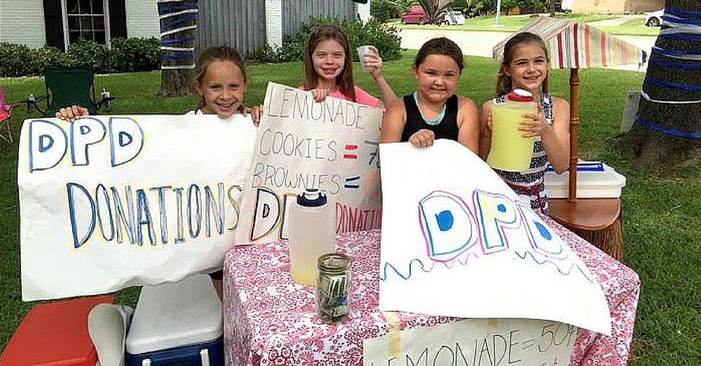 Girls Start Lemonade Stand For Families Of Slain Cops. What Happened Next Left Me Floored