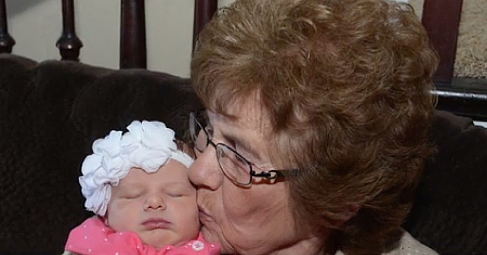 86-Year-Old Woman Meets Her 86th GREAT-Grandchild…On Her 86th Birthday!