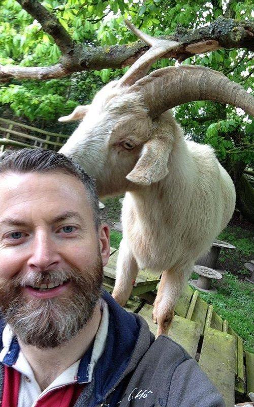 Dr Alan McElligott at Buttercups Sanctuary for Goats in Kent. CREDIT: DR ALAN MCELLIGOTT