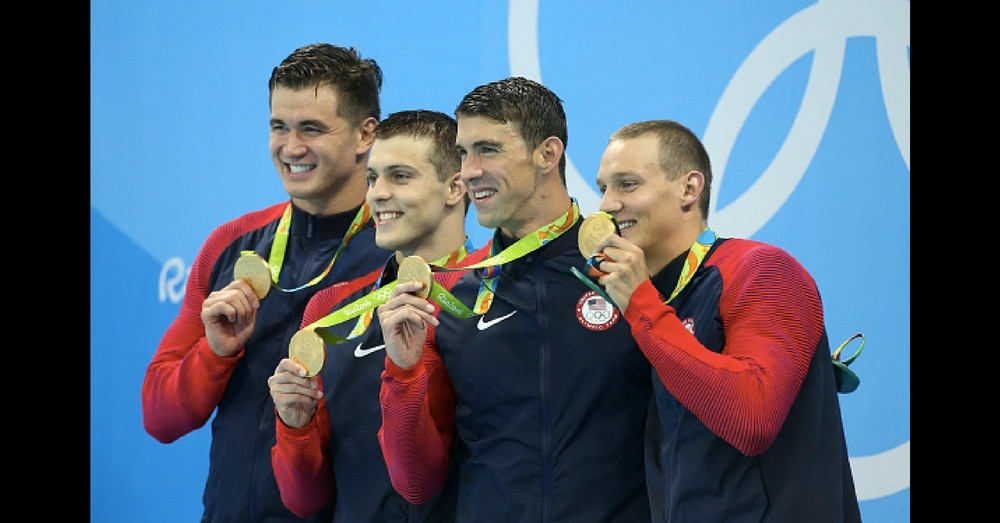 4 Olympians Take The Podium, But What 1 Of Them Does When Music Plays Is Going Viral
