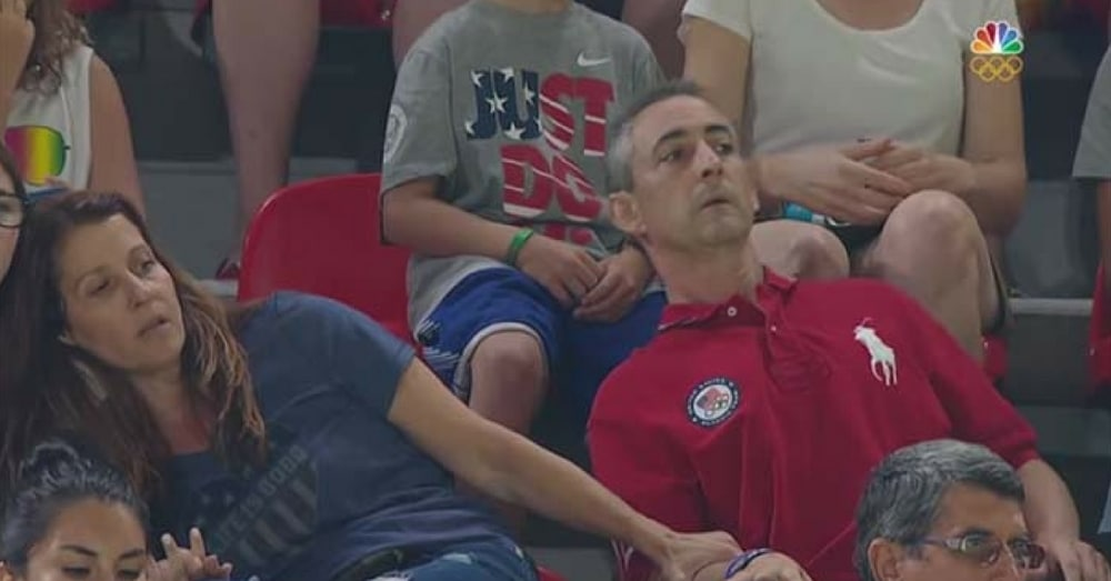 Camera Captures Gymnast's Parents Watching Her Routine…And Their Reaction Is Going Viral