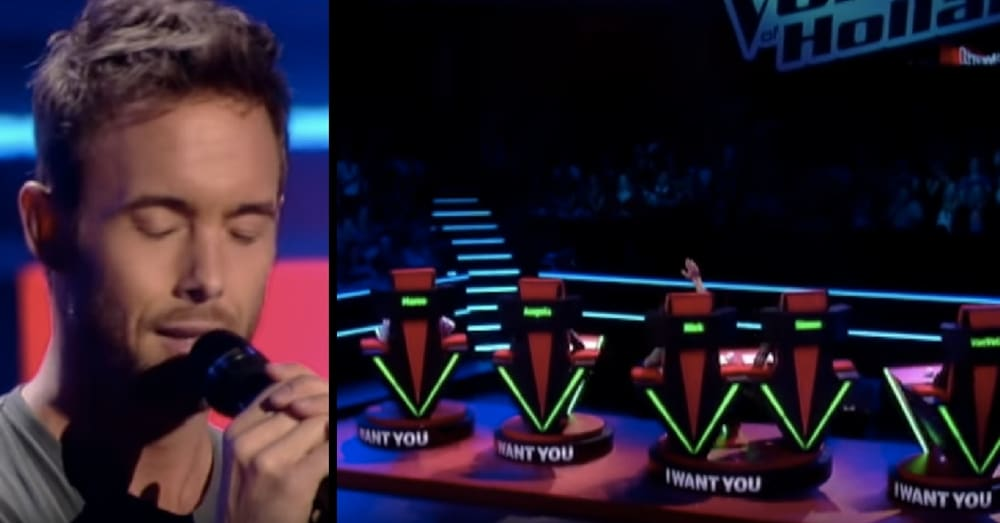 He Looks Nervous As He Takes 'Voice' Stage, But It Only Takes 3 Seconds For All Judges To Turn