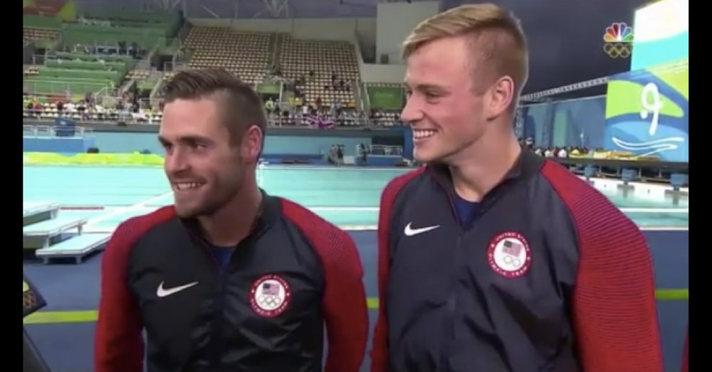 U.S. Divers Make Revelation About True Identities That Leaves Announcer Speechless