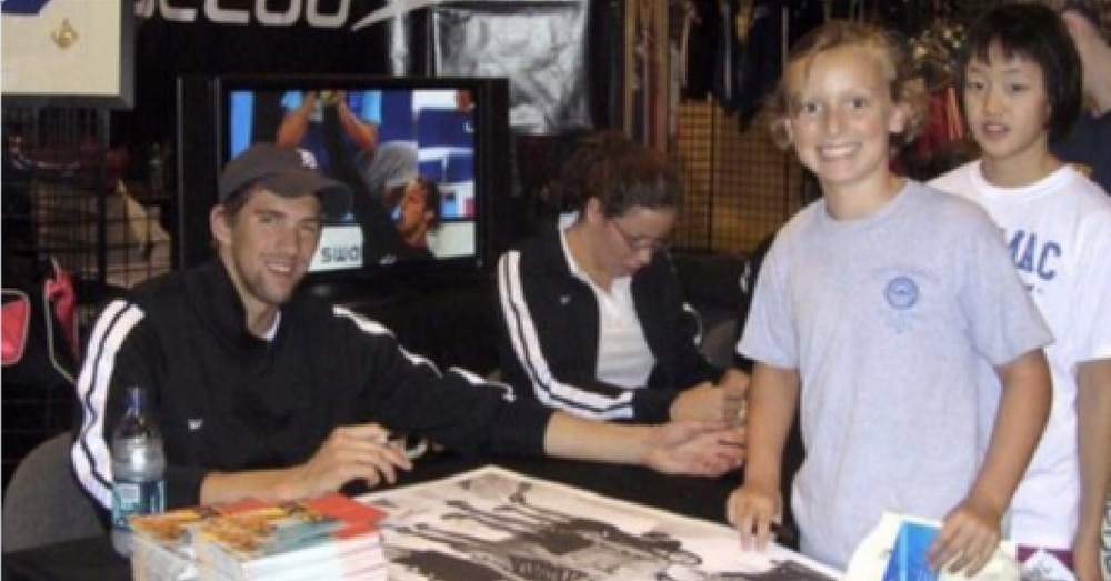 Swimming Legends Michael Phelps And Katie Ledecky Recreate Famous Photo 10 Years Later