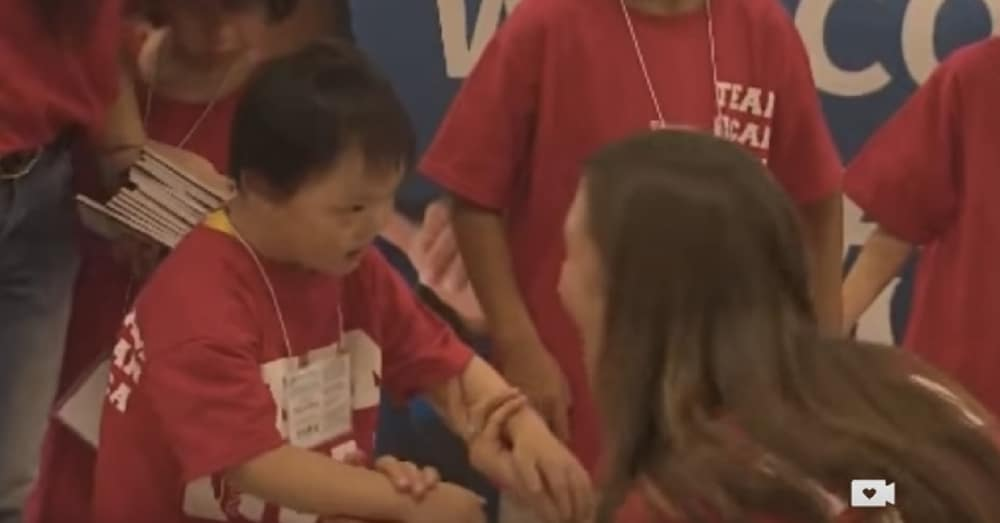 Orphan Meets New Parents For 1st Time, Then Says 1 Word That Leaves Them In Tears