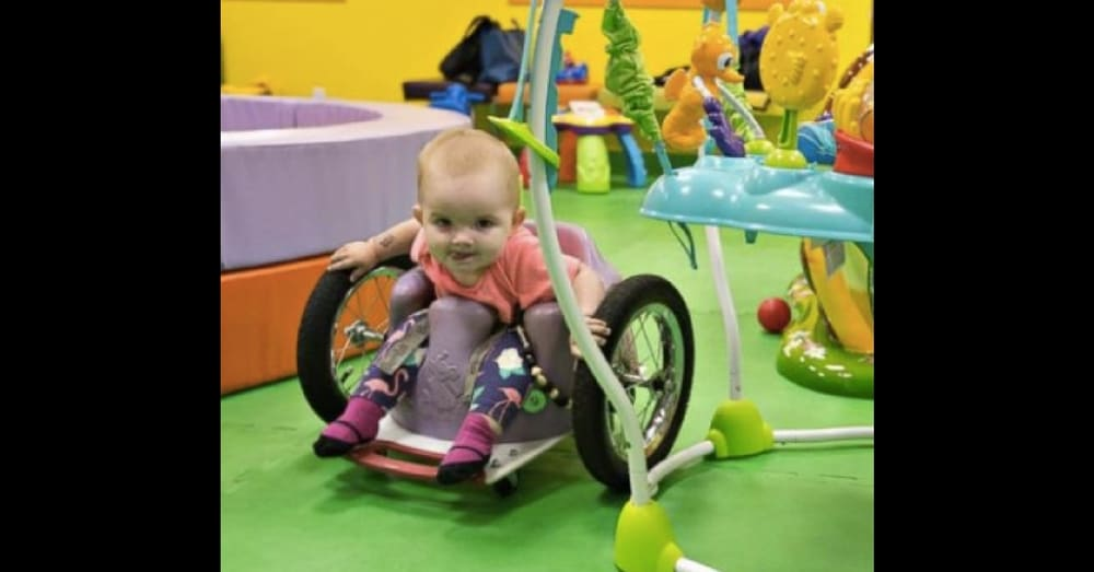 Dad Builds Paralyzed Toddler Custom Wheelchair. You Have To See This Thing In Action!