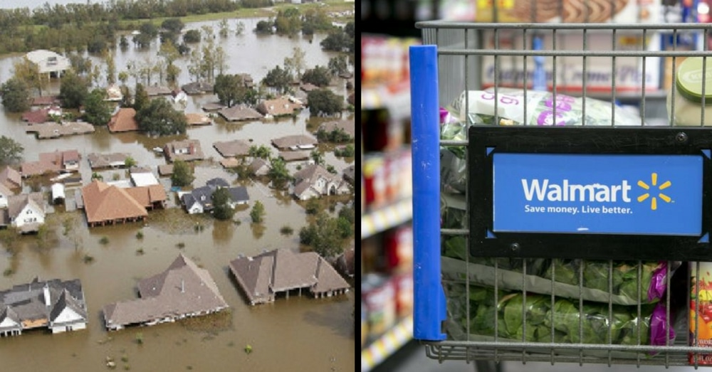 Flood Victim Goes To Walmart After Losing Everything. What Man In Line Does Leaves Her In Tears