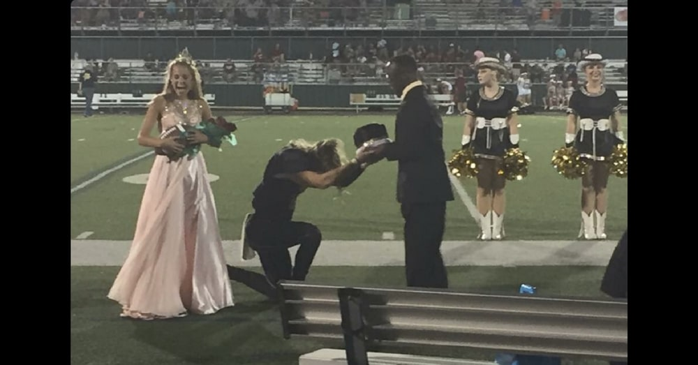 Homecoming King Stuns Crowd When He Immediately Turns And Gives His Crown Away