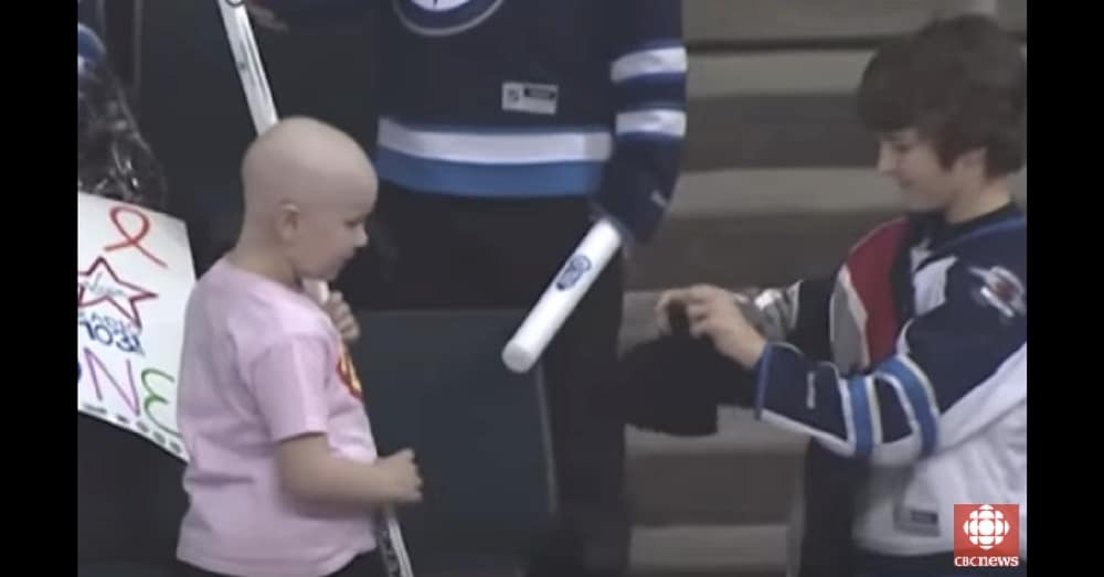 Boy Sees Sick Girl On Jumbotron. What He Does Next Leaves Entire Stadium In Tears