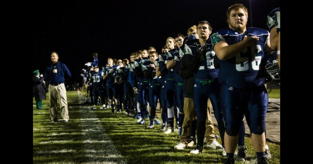 School Refuses To Play Anthem Before Game So Football Team Takes Action, Leaves Stadium In Tears