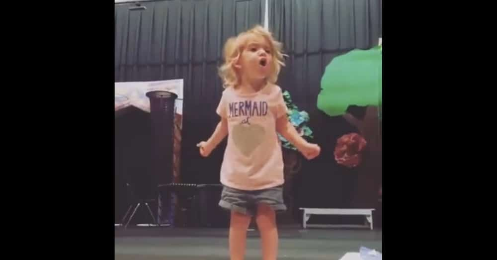 Toddler Gets Up To Sing ABCs, But When She Opens Her Mouth…Holy Moly!