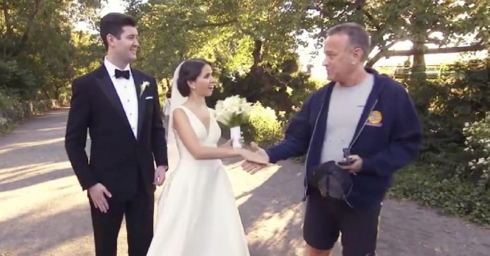 Tom Hanks Crashes Wedding. The Bride's Reaction? Priceless!