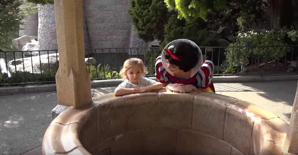Little Girl Wishes With Snow White For Dad To Come Home. Then She Opens Her Eyes…
