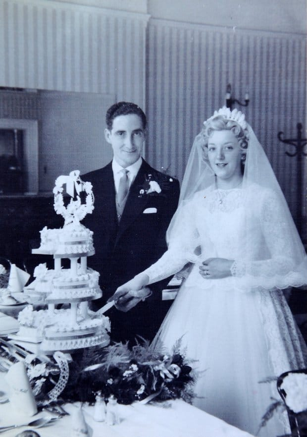 On their wedding day (Picture: Wales News Service)