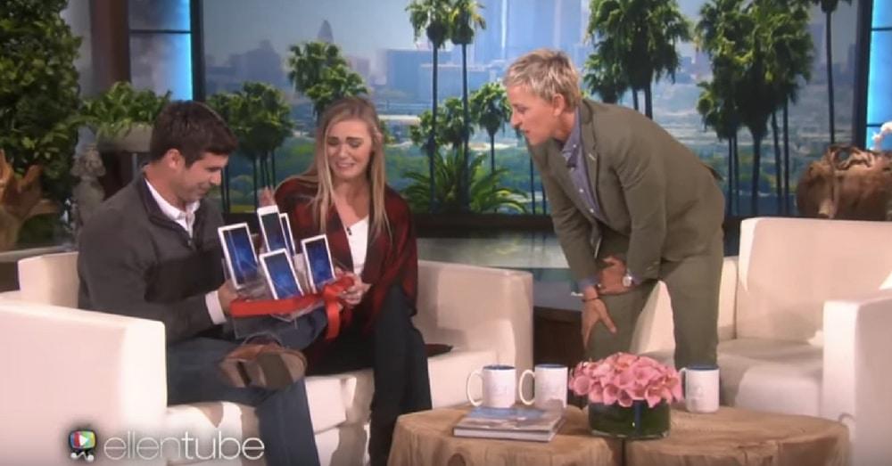 Teacher Thinks She's Just Getting New iPads, But Then Ellen Tells Her To Swipe Left…