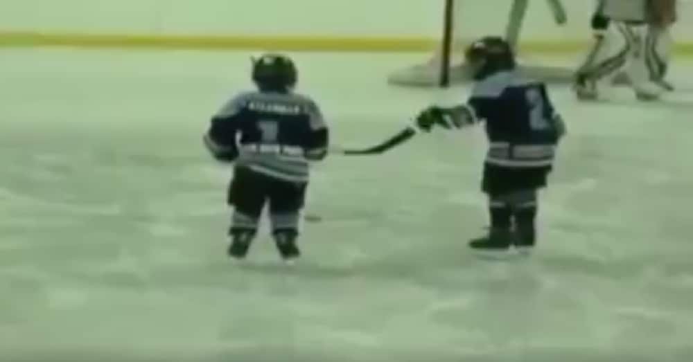 He Sees Special Needs Friend Struggling On Ice. What He Does Next Is Going Viral
