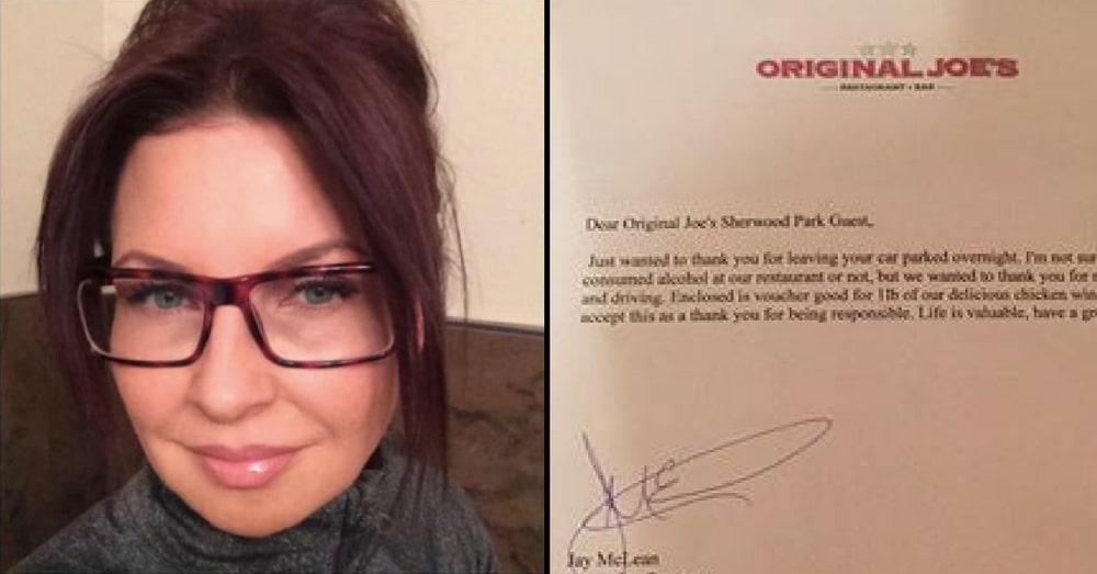 Woman Leaves Car In Bar Parking Lot Overnight. Comes Back To Note That Leaves Her Speechless