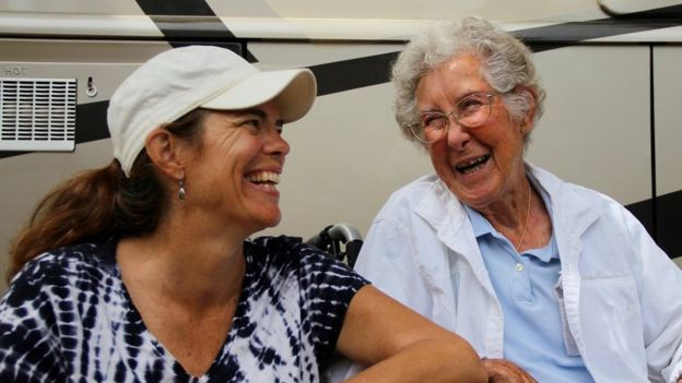 Ramie Liddle and her mother-in-law Norma Bauerschmidt. RAMIE LIDDLE