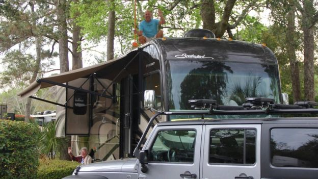 The family travelled more than 13,000 miles in their motorhome. RAMIE LIDDLE
