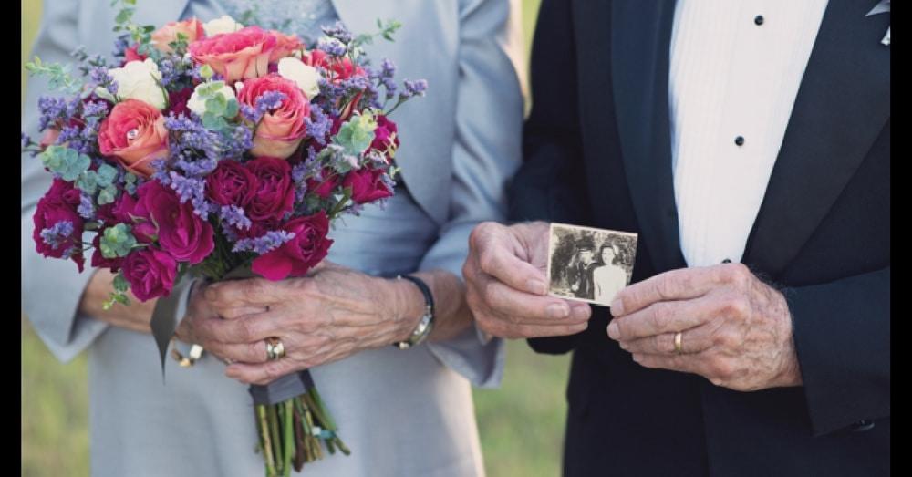 High School Sweethearts Finally Get Wedding Photos On 70th Anniversary