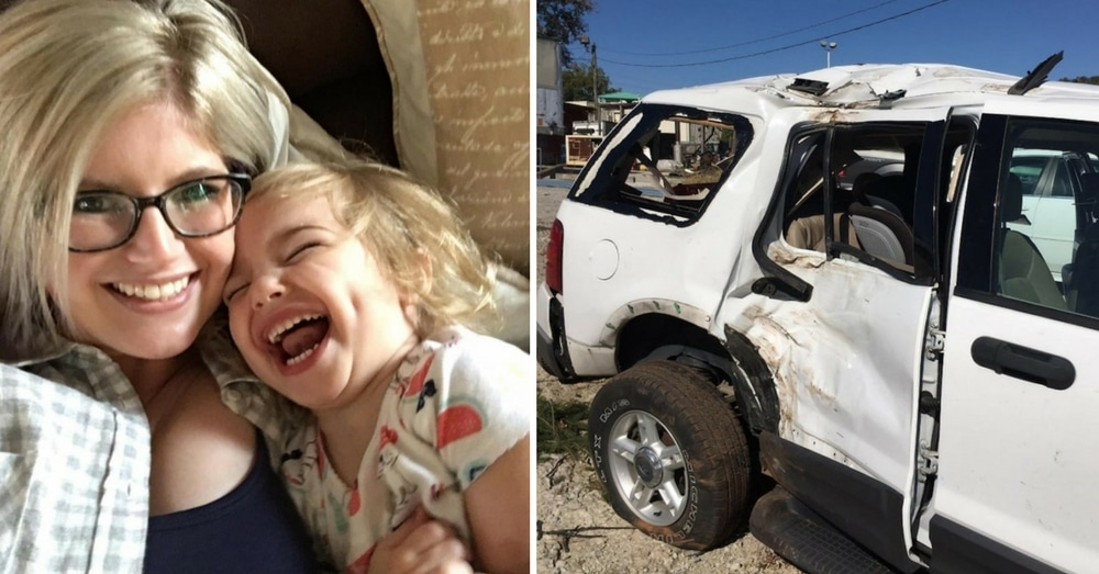 Firemen Rush To Rescue Mom In Car Crash, But She Asks Them To Sing To Daughter Instead…