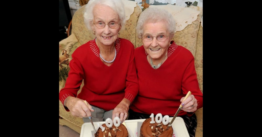 Twins Celebrate Their 100th Birthdays, Reveal Their Secret To A Long Life