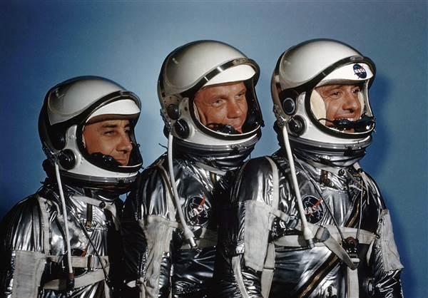 Astronauts Virgil 'Gus' I. Grissom, John Glenn and Alan Shepard in May 1961. AP