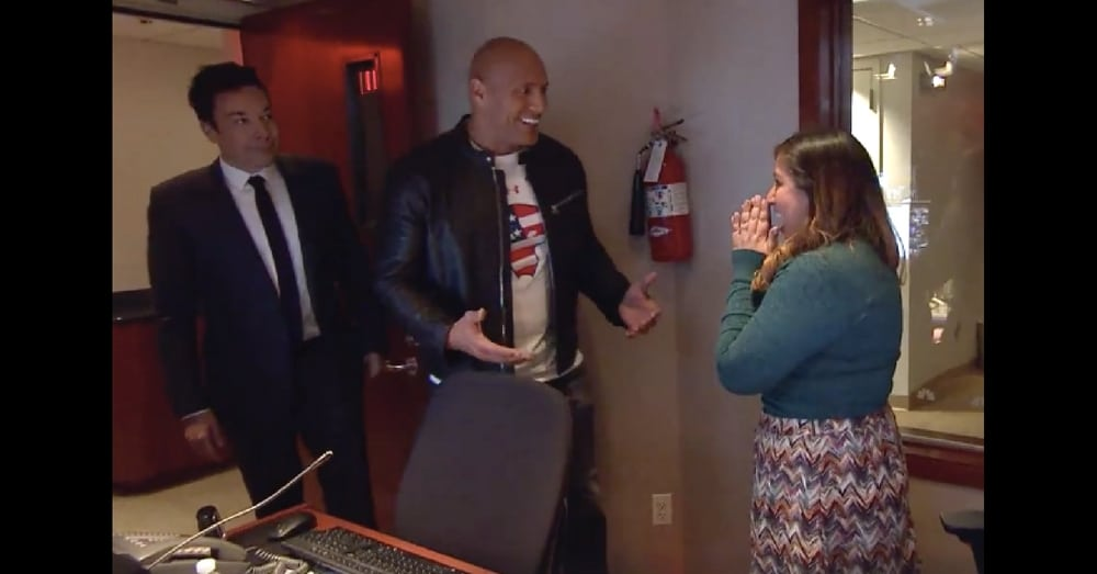 Army Vet Surprise From 'The Rock.' Then She Turns Around And Almost Passes Out