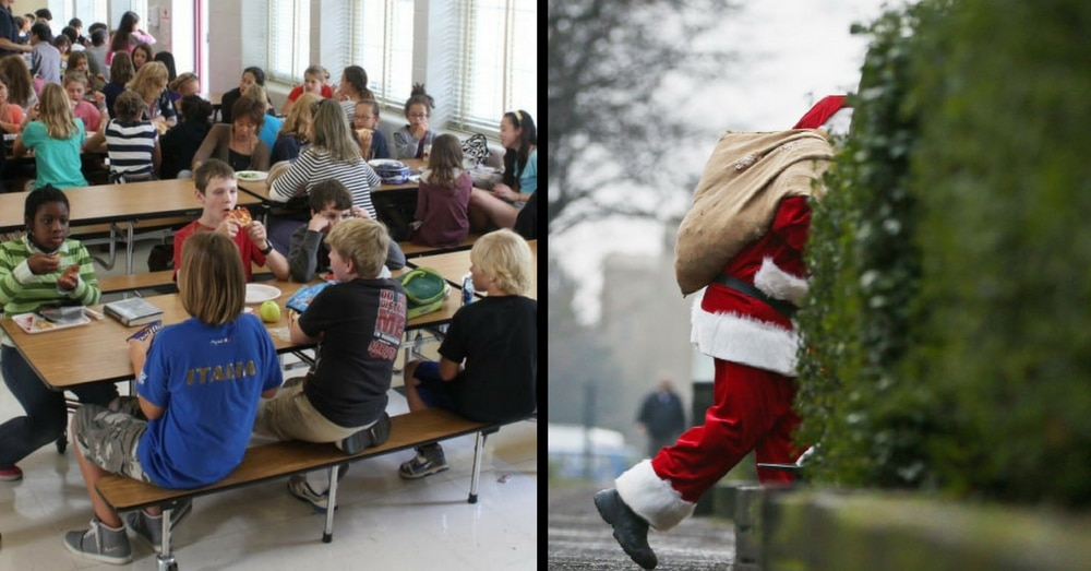 'Secret Santa' Walks Into Office, Writes Check That Leaves Entire School In Awe