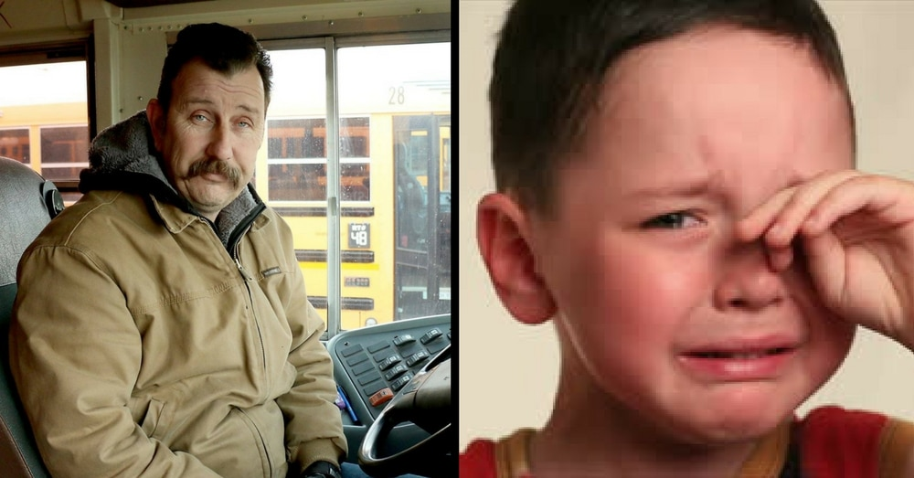 Bus Driver Sees Boy Crying, Then Notices Red Hands… What He Does Next? Wow