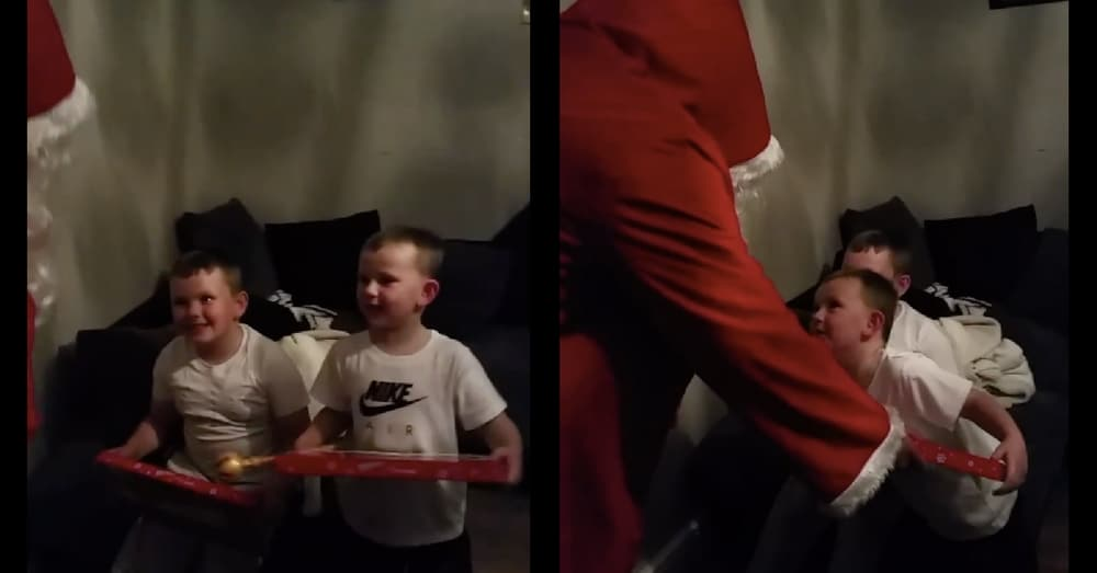 Dad's Been Deployed For Months, Then Santa Comes And Gives Kids Exactly What They Want