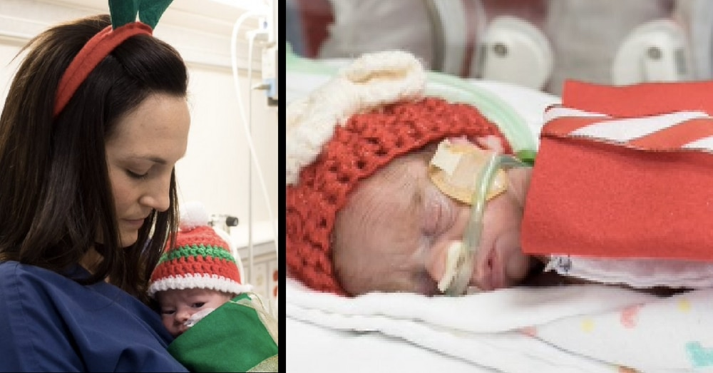 Premie Babies Wrapped Up Like Tiny Presents Just In Time For Christmas