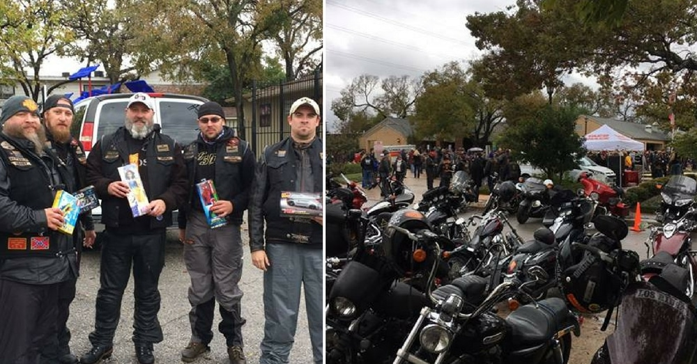 Kids Abandoned Just Before Christmas, Then This Group Of Bikers Shows Up…